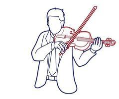 violino musicista orchestra strumento grafico vettoriale