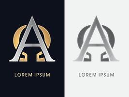 grafica di lusso alfa e omega vettore