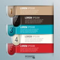 Modello editabile di vetro di progettazione di infographics