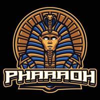 modello di mascotte del faraone vettore