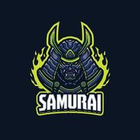 personaggio mascotte samurai vettore