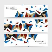 Set di intestazione astratto sfondo geometrico vettore