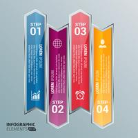 freccia di vetro infografica