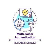 icona del concetto di autenticazione a più fattori vettore