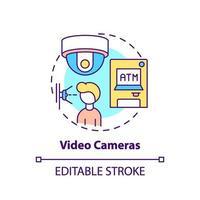 icona di concetto di videocamere vettore