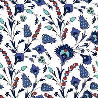 motivo floreale senza soluzione di continuità in stile ornamentale orientale retrò. fiori ornamentali astratti. sfondo di fiori vettore