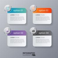 Infographics rettangolo arrotondato