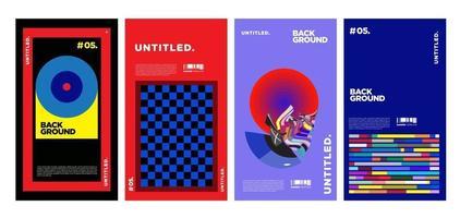 vector design colorato layout collage per copertina di una rivista
