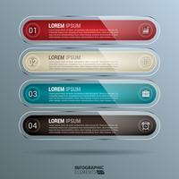 Infographics rettangolo arrotondato lucido vettore