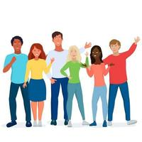 amici multiculturali, studenti. vettore