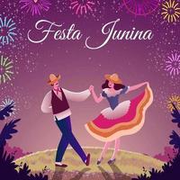 festa junina festival concept vettore