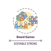 icona del concetto di giochi da tavolo vettore