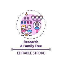 ricerca un'icona del concetto di albero genealogico vettore
