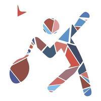 icona dello sport piatto mosaico - badminton. moderno vettore