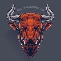 illustrazione della testa di toro vettore