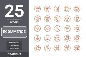 icon pack di e-commerce per il design del tuo sito web, logo, app, ui vettore