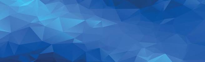 astratto sfondo panoramico con triangoli blu - vettore