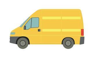 grande furgone giallo su sfondo bianco - vettore