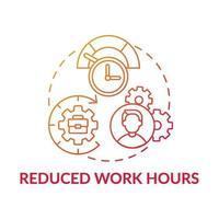 icona del concetto di orario di lavoro ridotto vettore