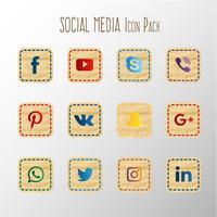 Collezione di carta social media