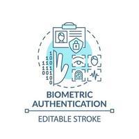 icona del concetto di autenticazione biometrica vettore