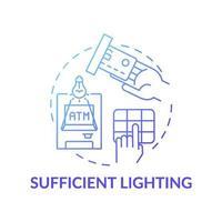icona del concetto di illuminazione sufficiente vettore
