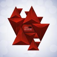 Triangolo rosso astratto