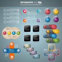 Collezione Big Infografica vettore