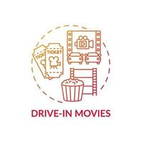 guidare nell'icona del concetto di film vettore