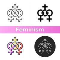 icona della comunità delle donne vettore