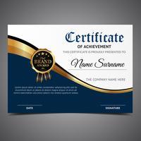 Modello Diploma di lusso vettore