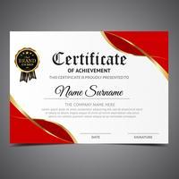 Modello di certificato fresco