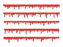 set di schizzi di sangue vettore