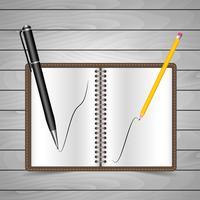 Penna e matita vettore