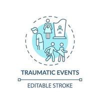 icona del concetto di eventi traumatici vettore