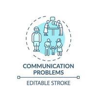 icona di concetto di problemi di comunicazione vettore