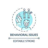 icona di concetto di problemi comportamentali vettore
