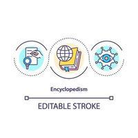 icona del concetto di enciclopedismo vettore