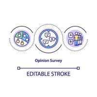 icona del concetto di sondaggio di opinione vettore