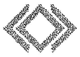 sagome di uccelli in volo su sfondo bianco. illustrazione vettoriale. volo dell'uccello isolato. disegno del tatuaggio. vettore