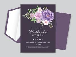 modello di carta di invito a nozze vettore
