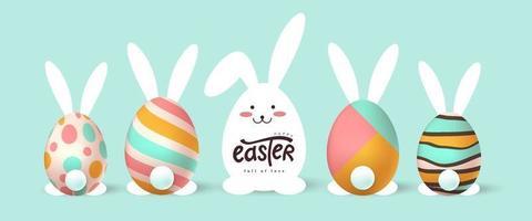 felice Pasqua banner sfondo vettore