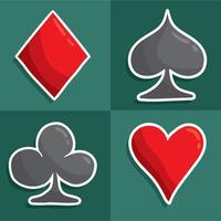 Vettore disegnato a mano delle carte da gioco
