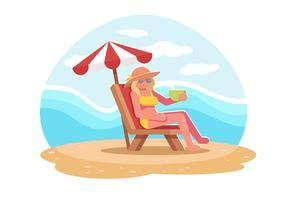 vettore di sedere sulla spiaggia
