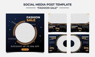 vendita di moda modello post sui social media vettore