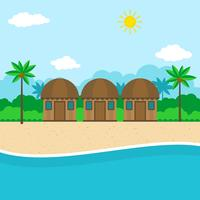 illustrazione del beach resort vettore