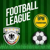 Poster di patch di calcio tedesco vettore