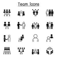 lavoro di squadra, squadra, persone set di icone illustrazione vettoriale graphic design