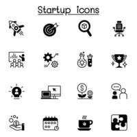 icona di avvio imposta illustrazione vettoriale graphic design