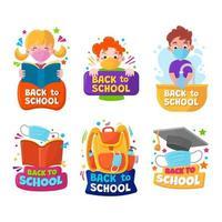 adesivi di scuola e istruzione vettore